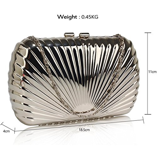 Hard Fashion Designer Ladies Bridal Bags Bag Size Case Clutch Shell LeahWard® For Small Bag Women Clutch SILVER Wedding Style Z5RwExPFq