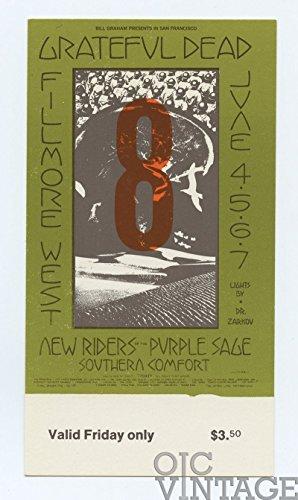 Bill Graham 237 Ticket Friday Grateful Dead 1970 Jun 4