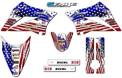 Team Racing Graphics kit compatible with Kawasaki 2008-2018 KLX 140 SCATTER