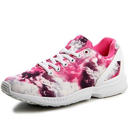 topschuhe24 548 Damen Sneaker Turnschuhe Pink