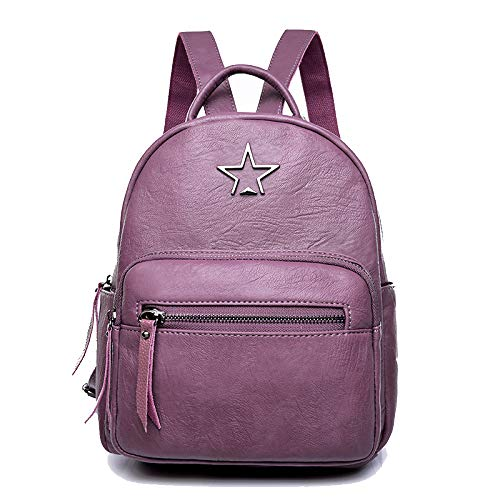 Para Para Viaje Purple FLHT Con Mochila De De Para Mochila Niñas Mochila La De Escuela Para Niñas Mochila Cuero Damas xqCaHqr0