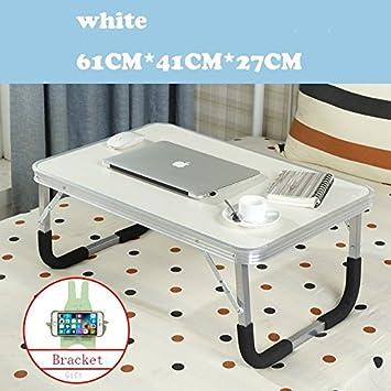 JINSHENG Mesas y sillas Plegables mesas para Ordenadores portátiles los dormitorios de la Universidad Simples mesas escritorios pequeñas mesas,Rough Tubo ...