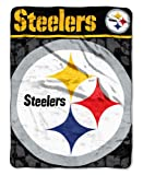 The Northwest Company NFL Pittsburgh Steelers Micro Raschel Throw Blanket, 46 x 60-Inch