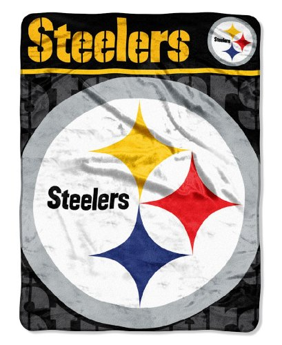 The Northwest Company NFL Pittsburgh Steelers Micro Raschel Throw Blanket, 46 x 60-Inch by The Northwest Company