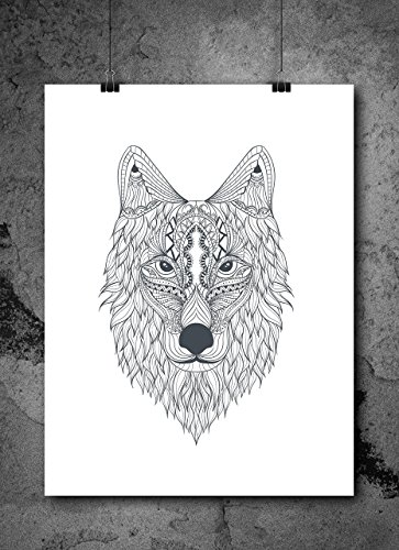 wolf-pencil-sketch-85x11-inch-print-home-contemporary-art-abstract-prints-wall-art-for-home-decor-wa