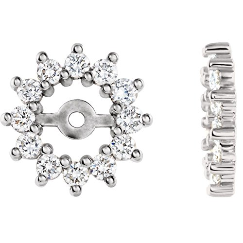 STU001- 14K White 1/2 CTW Diamond Earring Jackets by STU001-