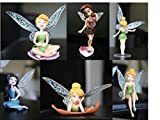 iDream 6 Pcs Tinker Bell Cartoon Fairy Princess Doll Action Figures For Kids
