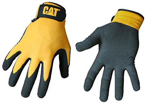 - Cat Gloves Rainwear Boss Mfg CAT017416L Large Yellow Foam Cell Nitrile Coated Gloves