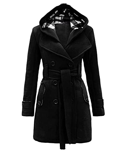 Abrigo Para Mujer Larga Trench Coat Con Capucha Abrigos Delgado Femenino Con Cinturón
