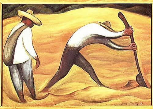 Amazon.com: Diego Rivera Campesinos 1947: Home & Kitchen