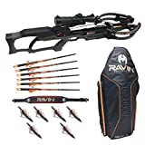 Ravin Crossbows R10 Predator Gray Crossbow with R180 Soft Case, Shoulder Sling, and Hunting Broadheads Bundle