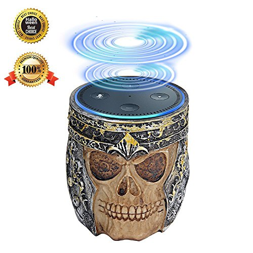 The View Halloween (Makibes Echo Dot Holder Stand Skull Retro Design for Amazon Echo Dot 2nd and 1St Generation Speaker Guard Stand Mount Base, Alexa Echo Dot Case Cover, Echo Dot Accessories)