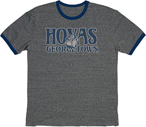 - Blue 84 NCAA Georgetown Hoyas Vintage Tri-Blend Ringer Tee, Large, Navy