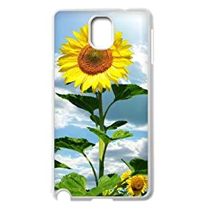 Diy Beautiful Sunflower Phone Case for samsung galaxy note 3 White Shell Phone [Pattern-1]