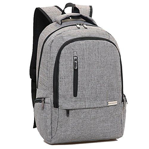 Campus Pack Schulrucksack Mysuesse Laptop Rucksack Backpack für bis zu 15.6 zoll Laptop Notebook Computer Arbeit Studenten Outdoor Reisen Wandern mit Großer Kapazität Grau dYzpzFx9jz
