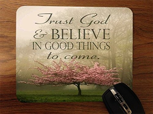 Trendy Accessories Inspirational Christian Quote Design Print Image Desktop Office Silicone Mouse Pad