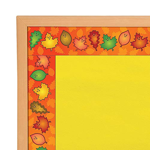 Fun Express - Bulletin Board Border - Fall Leaves for Fall - Educational - Classroom Decorations - Bulletin Board Decor - Fall - 15 Pieces -