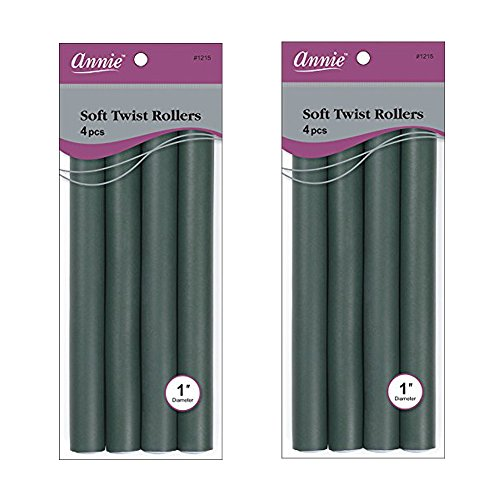 Annie Soft Twist Rollers / 4pcs per pack ( Pack of 2 ) (Soft Rollers Twist)