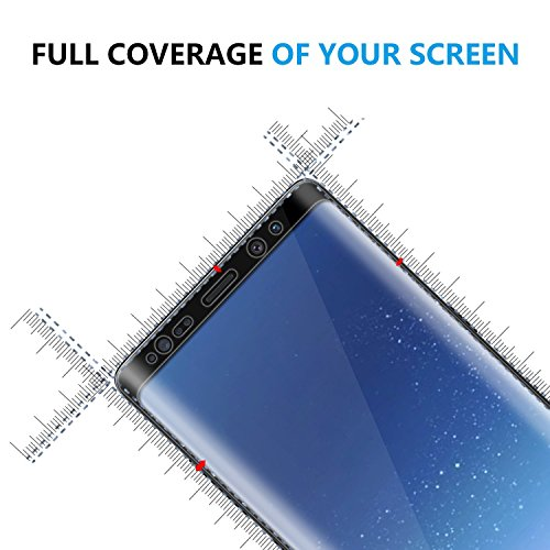 Galaxy Note 8 Screen Protector, LEDitBe[2-Pack][Case Friendly][Anti Scratch][Anti-Bubble]3D cured Premium Tempered Glass Screen Protector for Samsung Galaxy Note 8[black] by LEDitBe (Image #2)