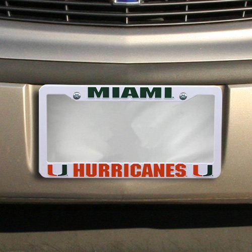 NCAA Miami Plastic Frame, 15 x 8