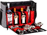 Cocktail Shaker Set: Professional Bartender Kit with Waterproof Bartender Bag- Perfect Home Bar Tools Set with Martini Shaker and Bar Accessories