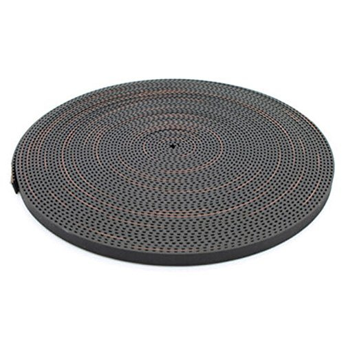 SODIAL 6mm GT2 RF Fiber Glass Reinforced Rubber Timing Belt for 3D Printer, 10 M by SODIAL