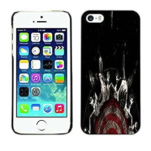 Be Good Phone Accessory // Dura Cáscara cubierta Protectora Caso Carcasa Funda de Protección para Apple Iphone 5 / 5S // Target Fear Black Dark