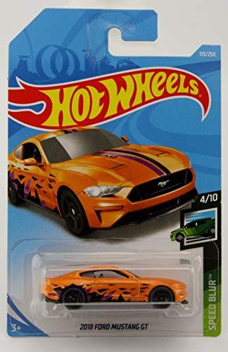 - Hot Wheels 2019 Speed Blur 2018 Ford Mustang GT 113/250, Orange