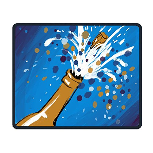 Mouse Pad Painting Party Pattern Rectangle Rubber Mousepad Length 11.81 Width 9.84 Inch Gaming Mouse Pad With Black Lock (Mr. Halloween Party Fabric)