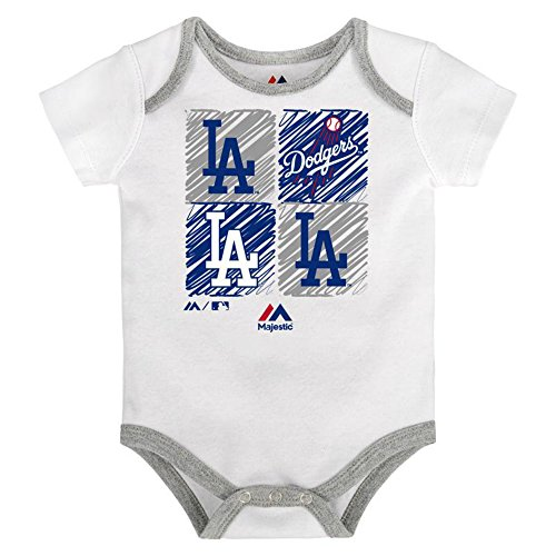(Genuine Merchandise Los Angeles Dodgers Infant One Piece Size 3-6 Months Bodysuit Creeper White)