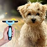 MIU COLOR Pet Deshedding Brush, Professional Grooming Tool, Effectively Reduces Shedding by Up to 95% for Short Hair and Long Hair Dogs Cats 12
