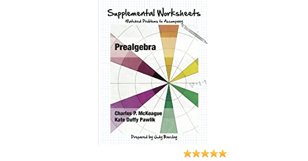 Supplemental Worksheets: Matched Problems to Accompany Prealgebra ...