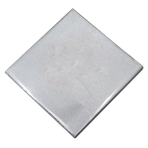5.9x5.9 inch Multiple Usage Tin Foil Gift Paper Colorful Arts Crafts Crafting Wedding Tin Foil Sheets Silver Decorative Paper for Scrapbooking Merchandises Candy Chocolate Cakes (3000 pcs, silver) by PABCK