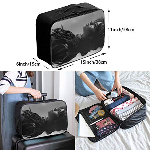 Skull Gangster Lightweight LargeTravel Storage Luggage Trolley Bag Travel Duffel Bags Carry-On Tote