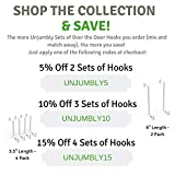 Unjumbly Over The Door Hook- 4 Pack Sturdy Metal