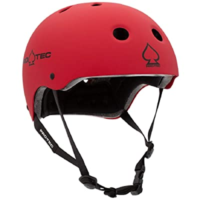 Pro-Tec Classic Certified Skate Helmet (Matte Red, Large) : Sports & Outdoors [5Bkhe0305741]