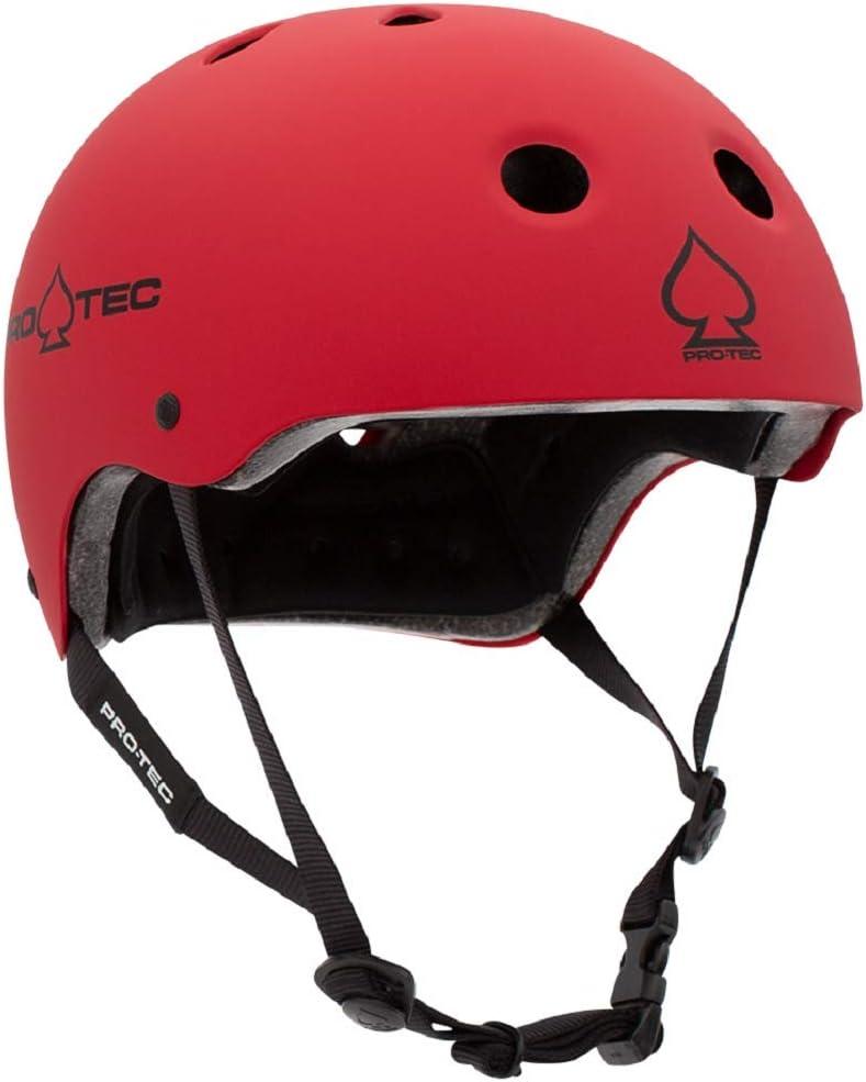 Pro-Tec Classic Certified Skate Helmet (Matte Red, Large)