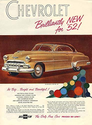 Brilliantyly new for 1952! Chevrolet full-line ad 1952 - Full Line Chevrolet