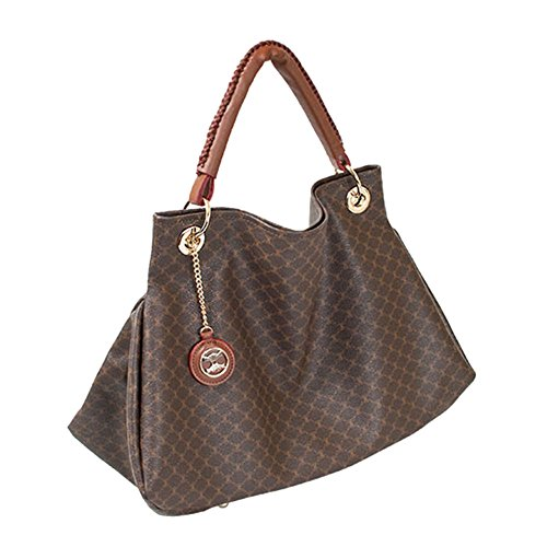 Leather Accents Tote Bag (brown)