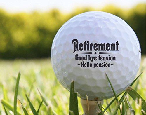 (Set of 3) Retirement Golf Balls - EB16 (Handmade Golf)