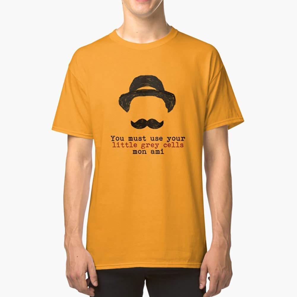Women Unisex Full Size. Hoodie for Men Tee shirt Agatha Christie Hercule Poirot Little Grey Cells Classic TShirtT Shirt Premium