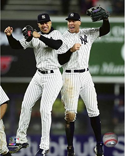 Giancarlo Stanton & Aaron Judge 2018 New York NY Yankees Authentic 8x10 Photo