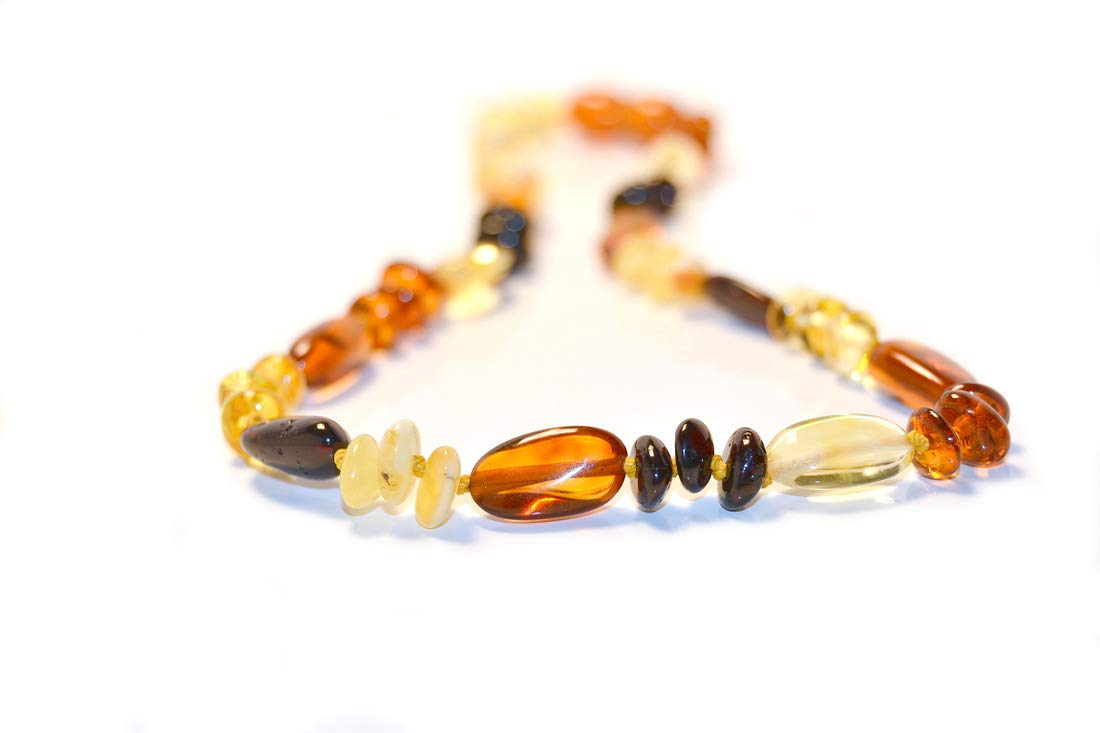 The Art of Cure Baltic Amber Necklace 17 Inch (Fancy) - Anti-inflammatory by The Art of Cure