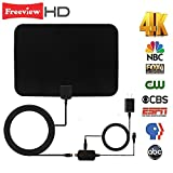 TV Antenna, Indoor HDTV Antenna 50 Mile Range Digital Signal Amplifier Booster Free to View, 16 FT Long Cable Support 1080P 4k FreeView, Upgraded 2018 Version