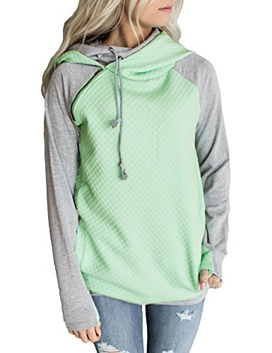 cowl neck hoodie woman - 7
