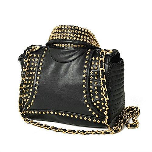 Sacs à Pour Vêtements Sac Cuir En Dames Les Fourre Sac LQQAZY Gold Femmes à Main Véritable tout Rivet qBU5fU