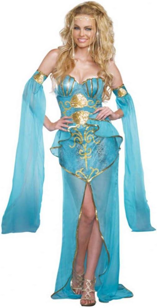 Disfraz Sirena Deluxe Vestido de Mujer Azul Claro Mundo Submarino ...