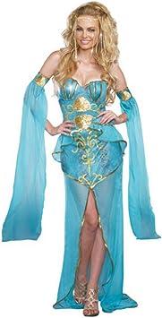 Disfraz Sirena Deluxe Vestido de Mujer Azul Claro Mundo ...