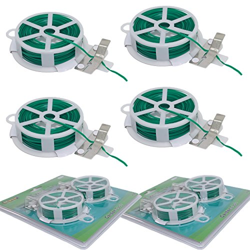 - Set of 4 Twist Tie Spools with Cutter Attached to Spool (Green Color)