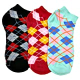 Luxury Divas Ladies Assorted 3 Pack Argyle Anklet No Show Socks